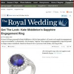 Sapphire ring by Yael Designs featured in Royal Wedding coverage on Brides.com
