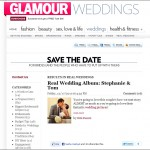 Real wedding photographed by Choco Studio featured on Glamour.com