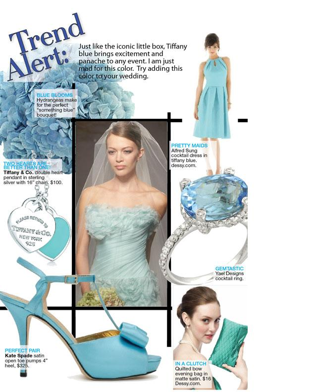 Aquamarine ring by Yael Designs featured on Bridal Guide online