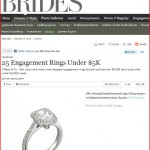 Engagement ring by Yael Designs featured in 25 Affordable Engagement Rings on Brides.com resulting in huge online traffic spike