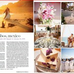 Mexico destination wedding photographed by Choco Studio featured in Destination Weddings & Honeymoons summer 2010 issue