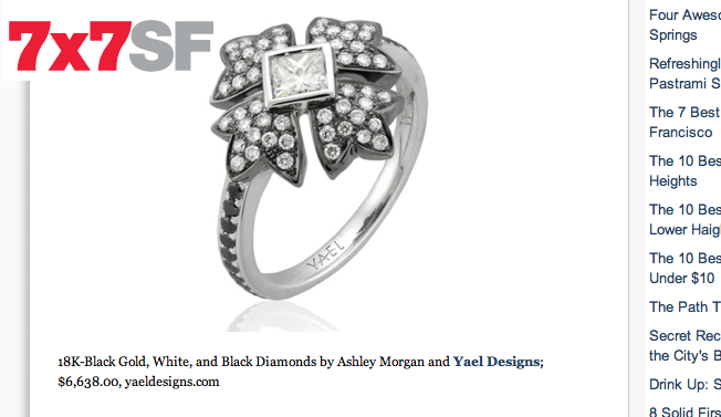 7x7 Engagement Ring Feature on Yael
