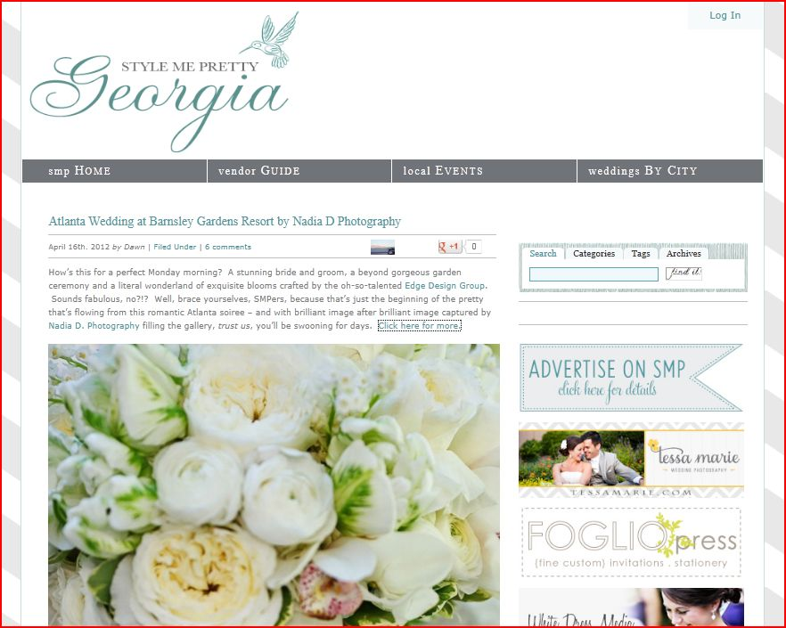 Style Me Pretty features real wedding by Nadia D Photography