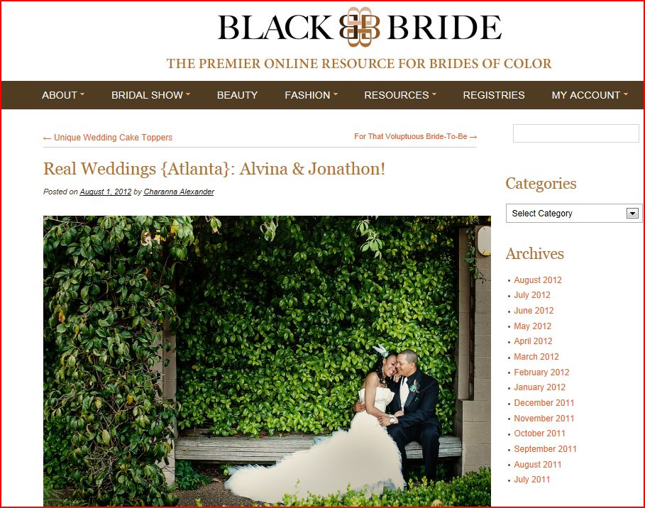 BlackBride features real wedding by Nadia D Photography