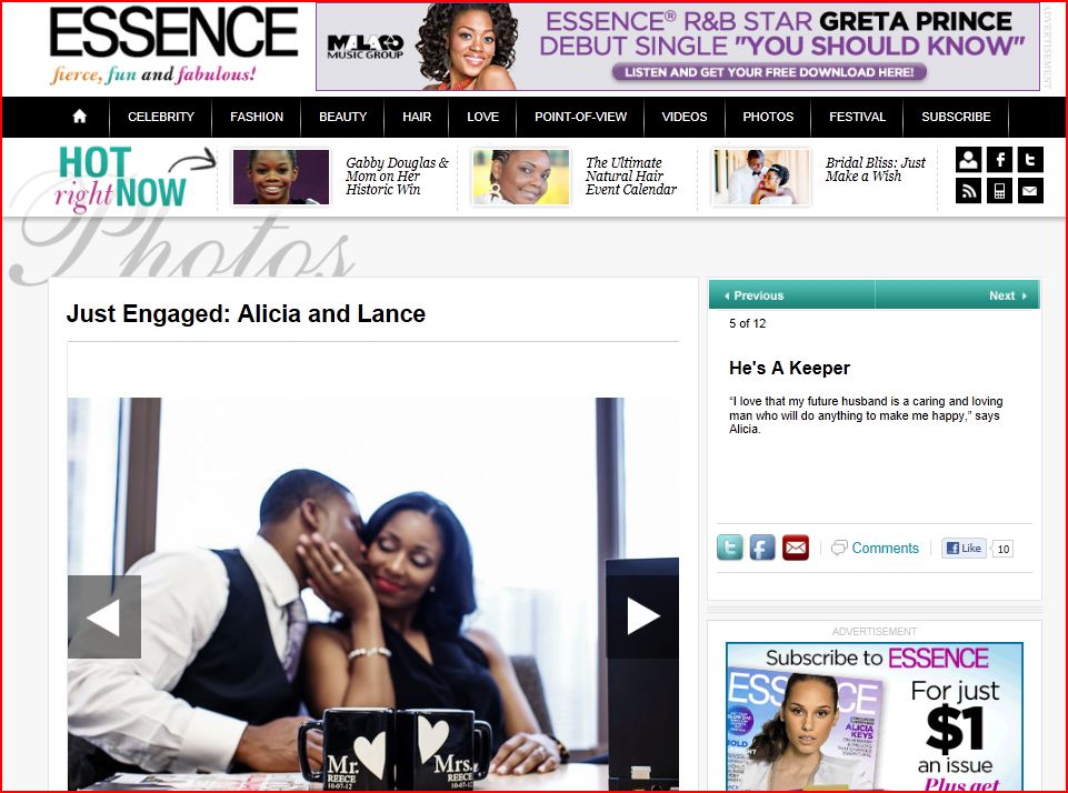 Essence features engagement by Nadia D Photography