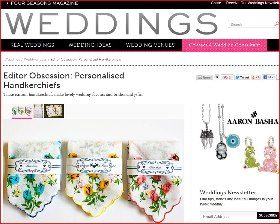 Four Seasons Weddings features Benign Objects. December 2012.