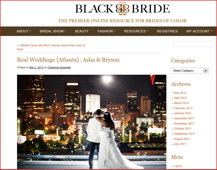 Black Bride features real wedding of Asha & Bryson by Nadia D Photography