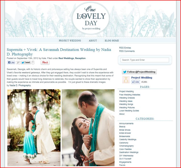 Project Wedding features Savannah Indian wedding by Nadia D Photography