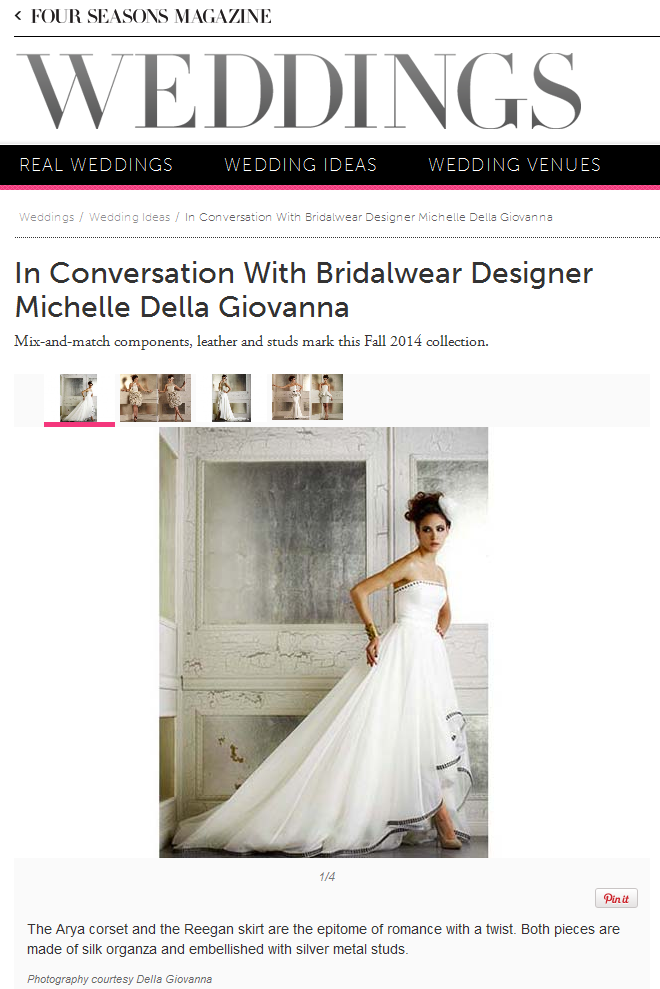 Four Seasons Weddings interviews Della Giovanna