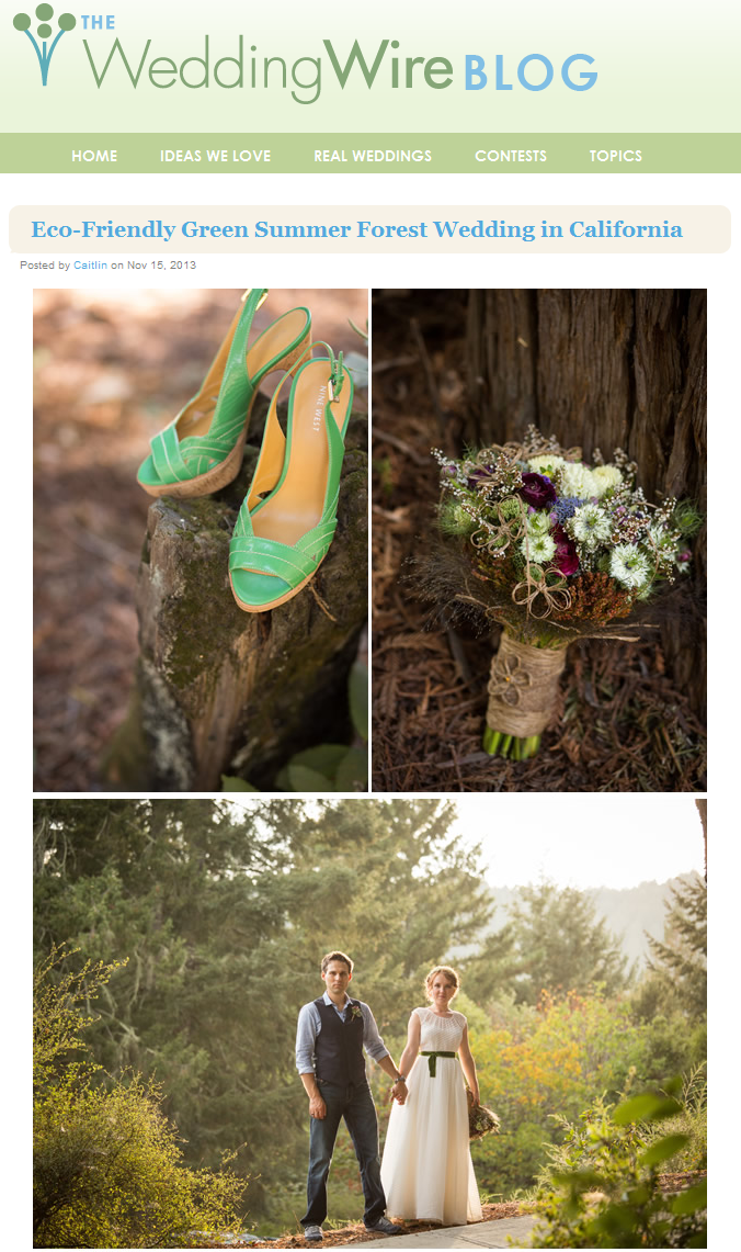 Wedding Wire featured wedding captured by Choco Studio Photography. November 2013