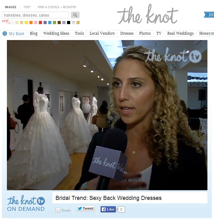 The Knot TV featured Ilana Stern of Weddington Way. November 2013