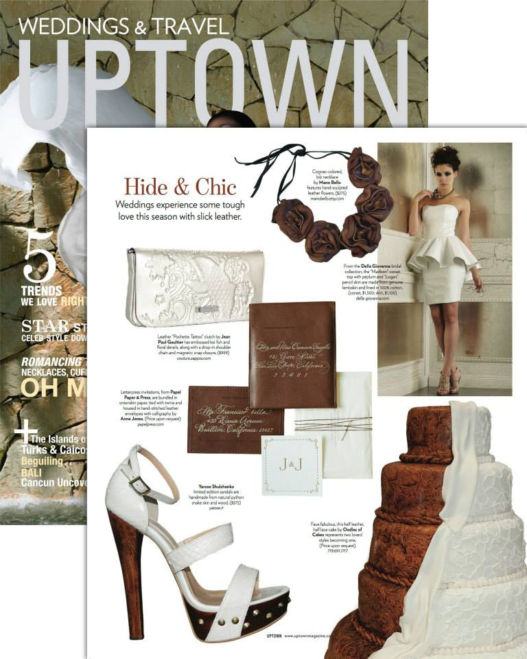 Uptown features Della Giovanna gown. November 2013