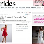 Brides.com publishes red dresses by Kirribilla and Weddington Way, February 2013
