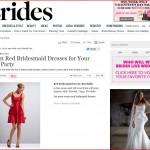 Brides.com publishes red dresses by Kirribilla and Weddington Way, February 2013