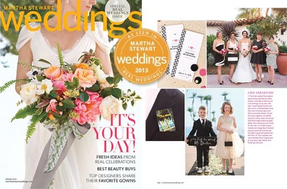 Martha Stewart Weddings features Amanda's real wedding
