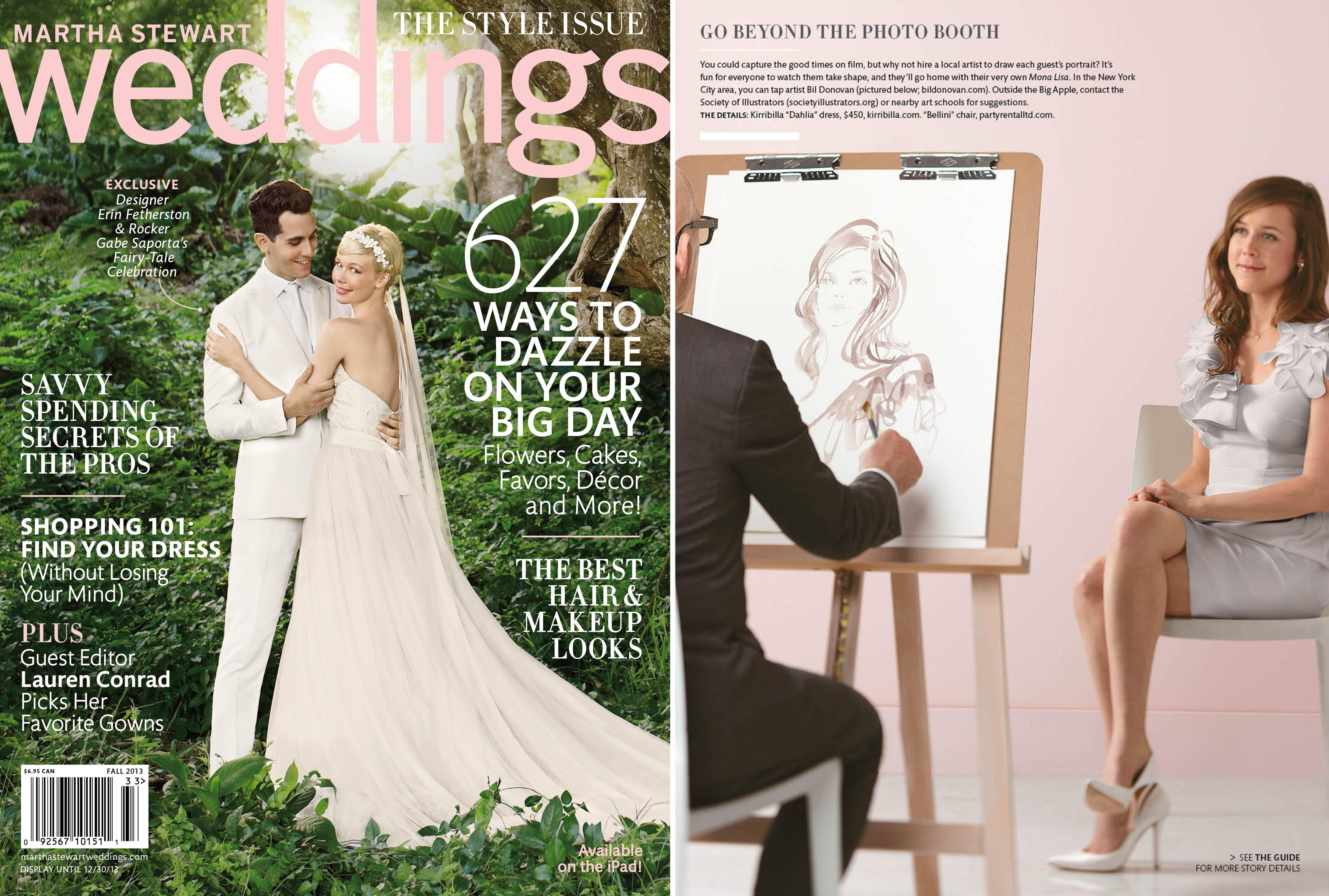 Martha Stewart Weddings featured dress by Kirribilla. September 2013