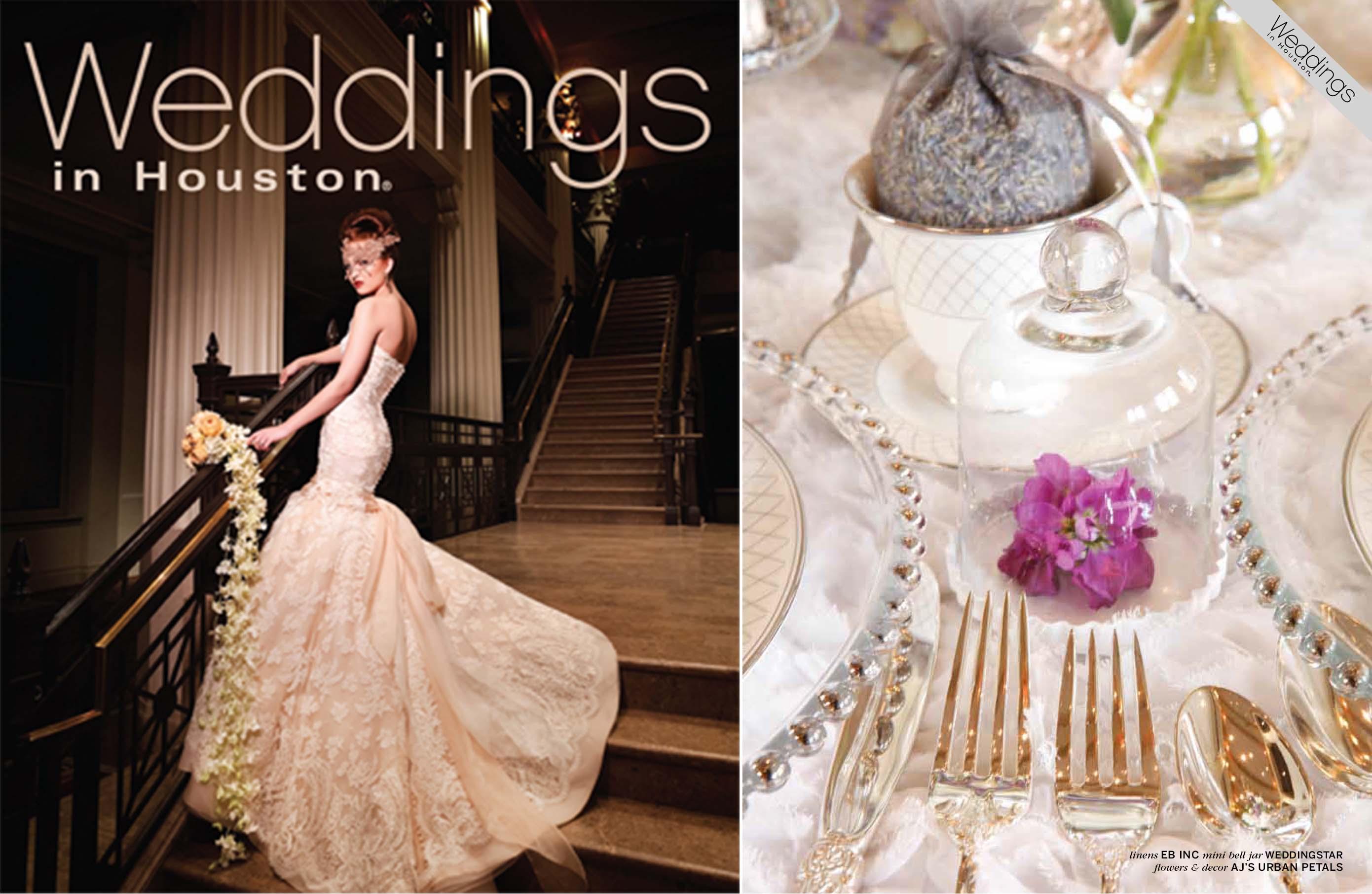 Weddings in Houston featured bell jars by Weddingstar. January 2014