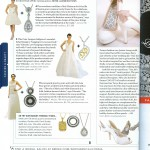 Yael Designs pairs jewelry with wedding dresses in Northern California Brides Fall 2009 issue