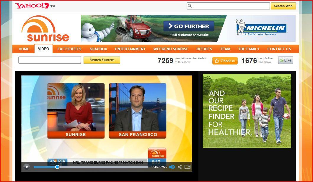 Australia's Yahoo!7 Sunrise interviews Hatch My House. July 2012.
