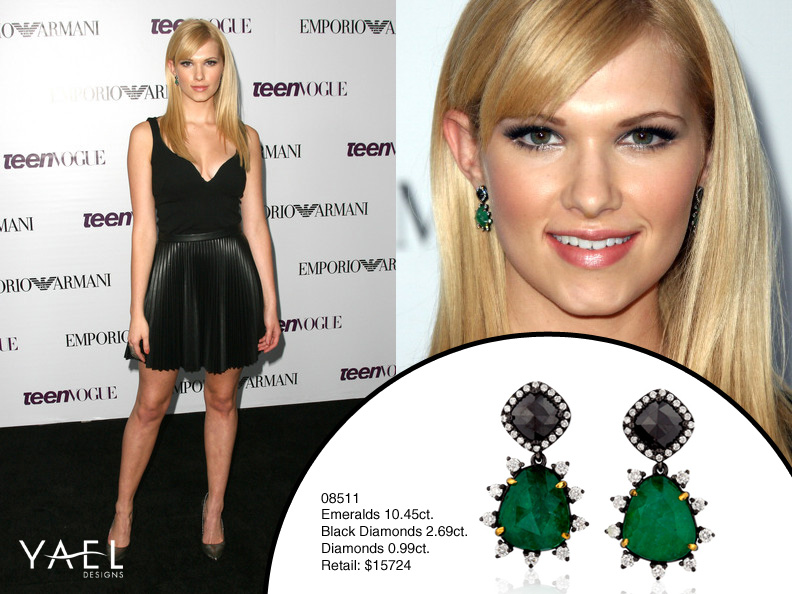 Claudia Lee wears earrings by Yael Designs.