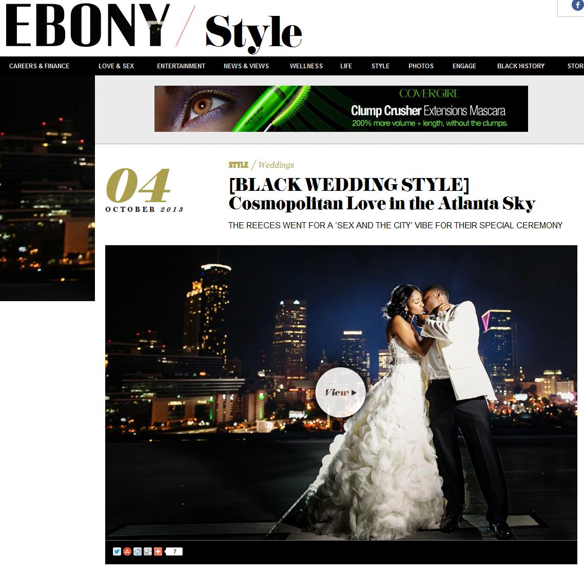 Ebony featured Atlanta wedding by Nadia D. Photography. October 2013