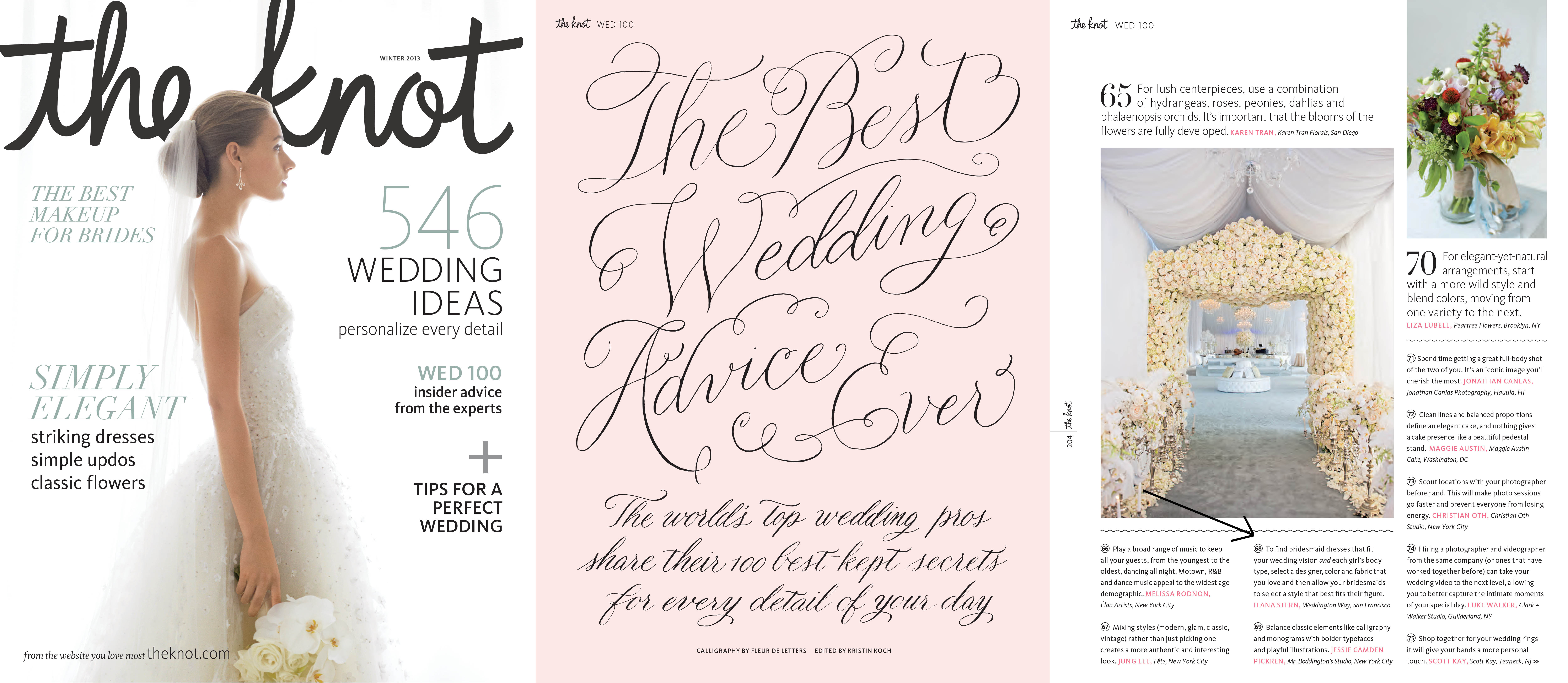 The Knot featured quote from Weddington Way CEO Ilana Stern. October 2013