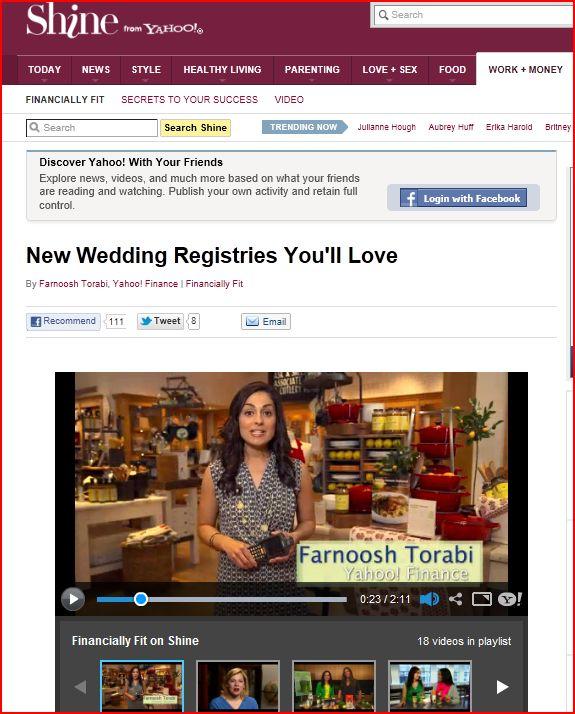 Yahoo finance wedding