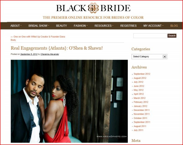 BlackBride features W Hotel engagement by Nadia D Photography
