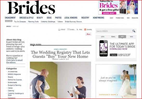Brides features Hatch My House wedding registry