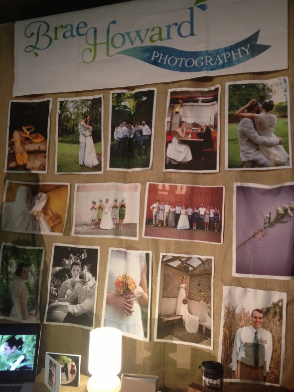 Unique wedding photographer booth