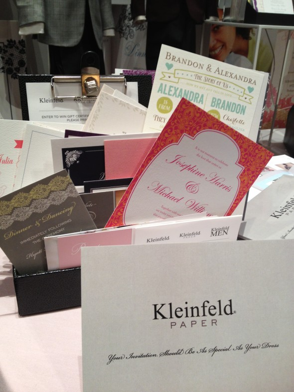 Kleinfeld Paper wedding invitations