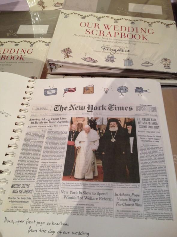 Darcy Miller wedding scrapbook