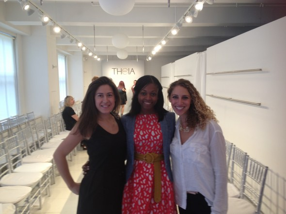 Sasha Vasilyuk with Vanessa Motley and Ilana Stern, founders of Weddington Way.