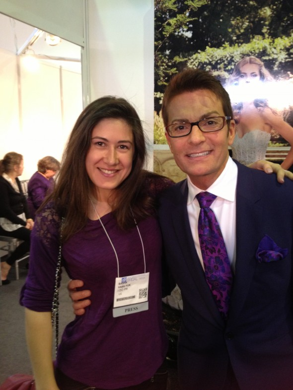 Sasha Vasilyuk and Randy Fenoli from Say Yes to the Dress