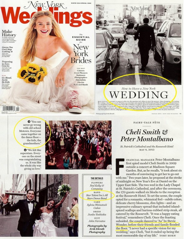 NY Weddings featured Star Talent