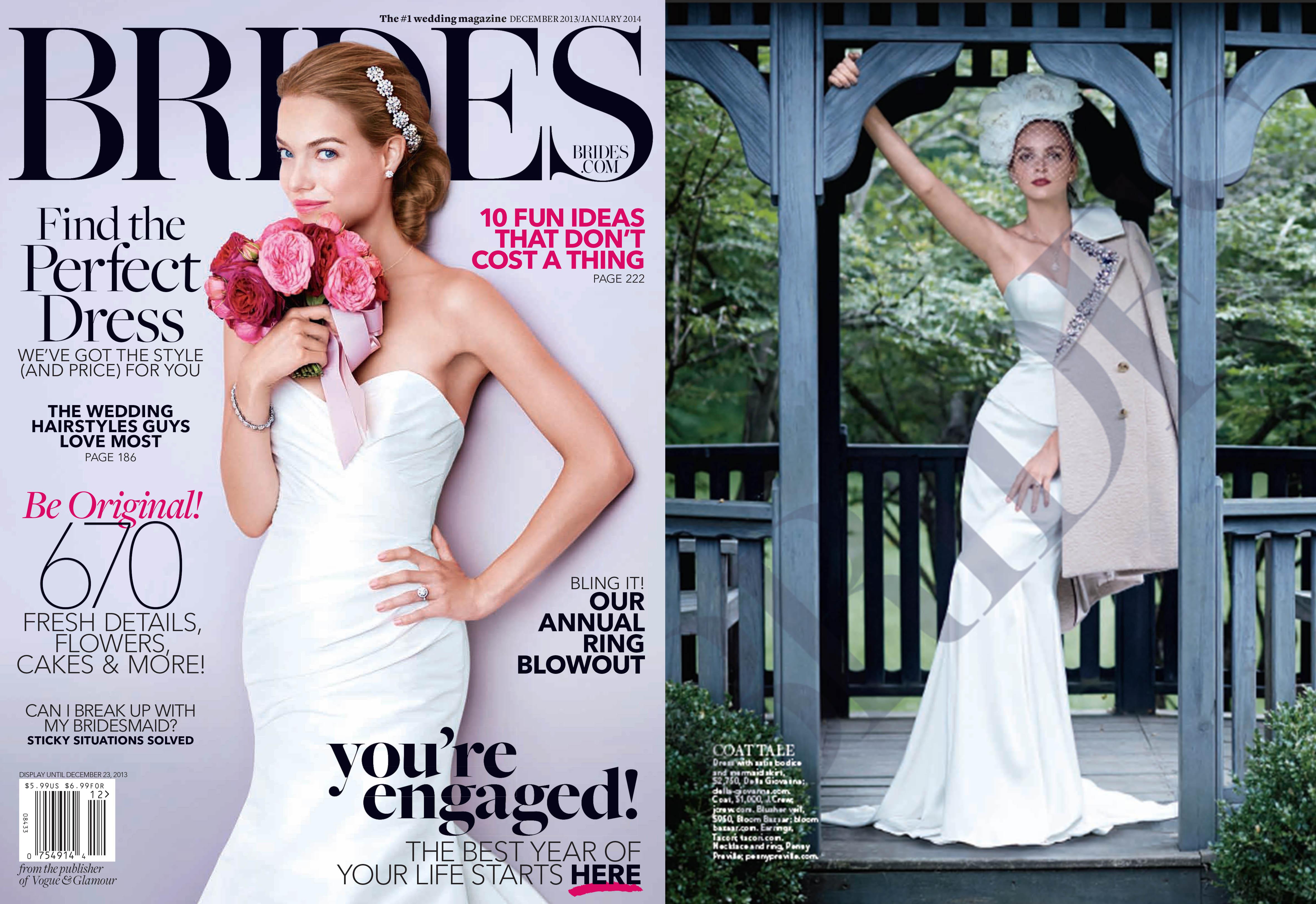 Brides featured Della Giovanna dress. November 2013