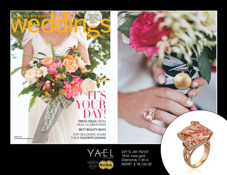 Martha Stewart Weddings features Yael Designs
