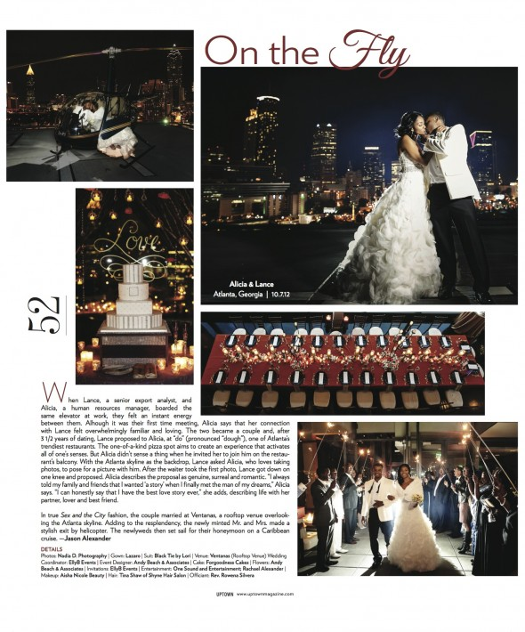 Gorgeous real wedding shoot by Nadia D in Uptown Magazine