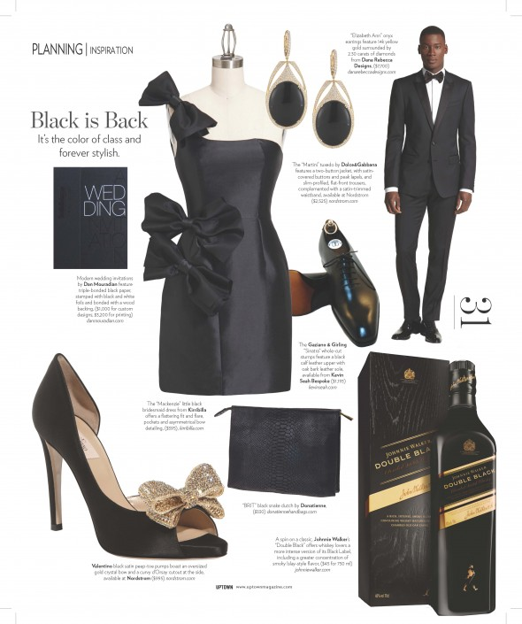 Beautiful Black Bridesmaid dress by Kirribilla is featured in Uptown Magazine
