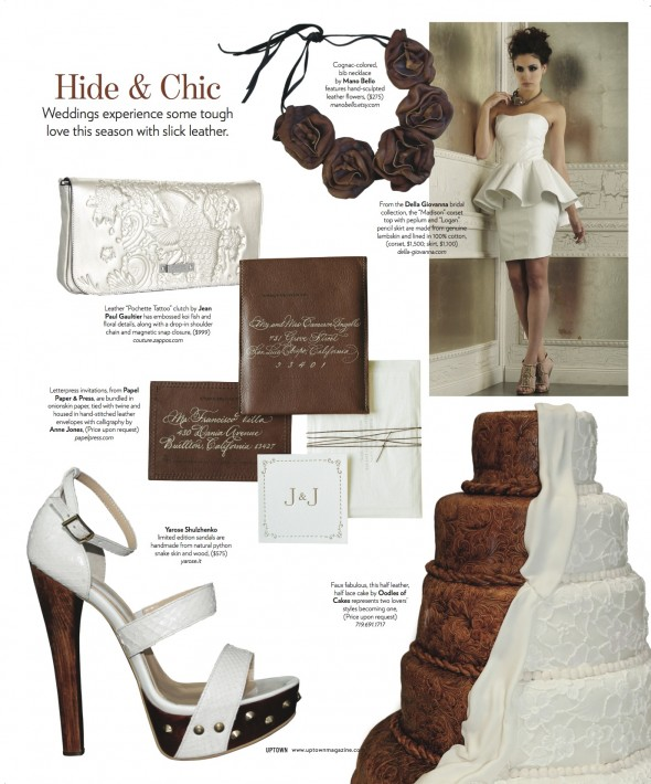 Amazing dress made up of Della Giovanna Separates featured in Uptown Magazine
