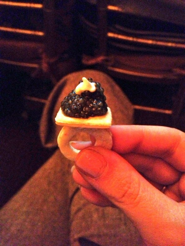 Caviar Engagement Ring