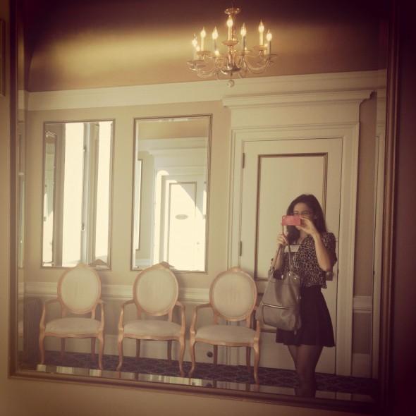 Selfies in Regency Bathroom
