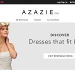 Azazie Home page