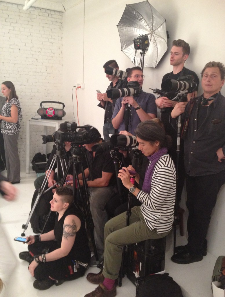 Photographers at Della Giovanna Show