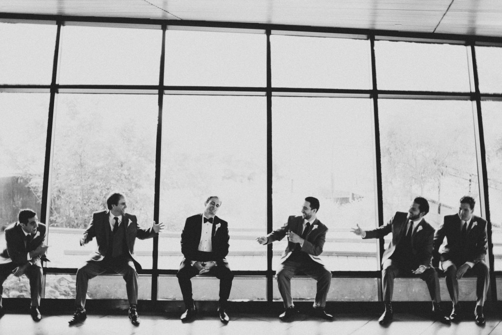 Menguin groomsmen