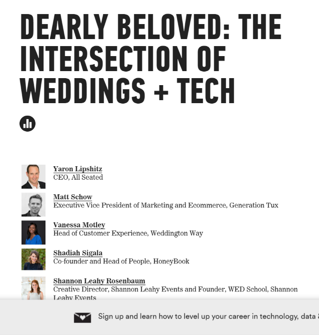 General Assembly hosts Wedding Tech panel