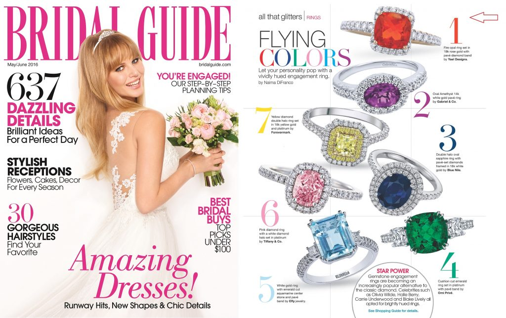 Bridal Guide features Yael Designs engagement ring