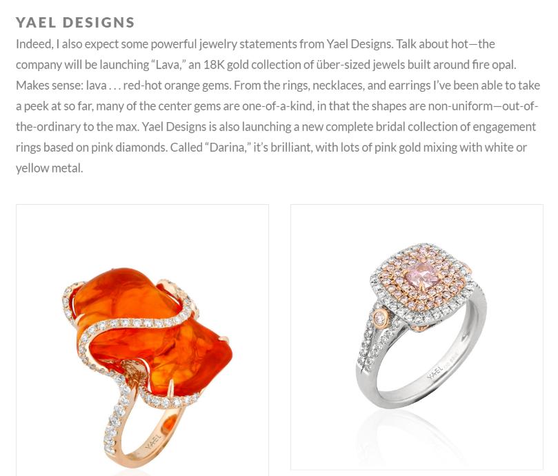 INDesign features Yael Designs