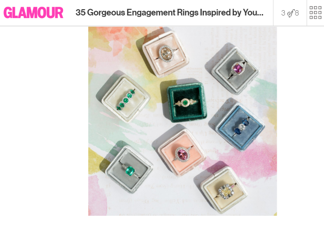 Glamour features Yael engagement rings