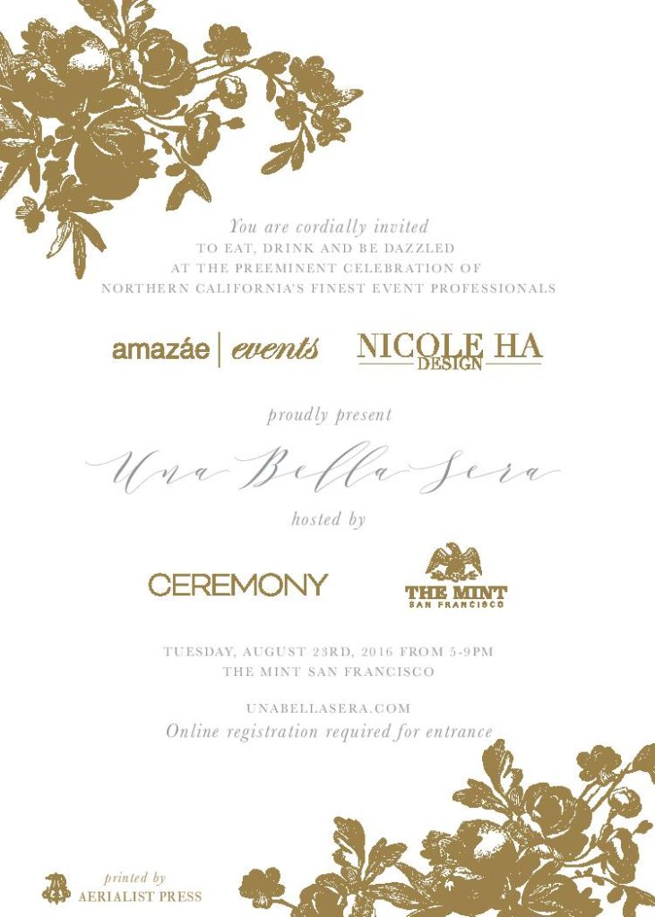 Una Bella Sera invitation by The Aerelist Press